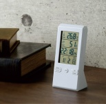 PATTO テーブルクロック温湿度計付
