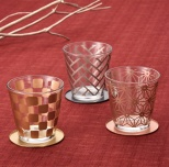 金銀銅 伝統和柄グラス三客揃え