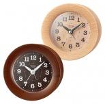 インテリア置時計 ウッドアラームクロック
