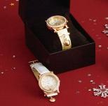 ハートチャーム付き腕時計
