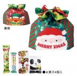 サンタクロース巾着お菓子4種入り