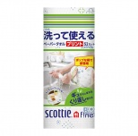 スコッティ洗って使えるペーパータオルプリント1ロール(52カット)