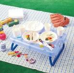 折りたたみテーブル付きピクニックセット
