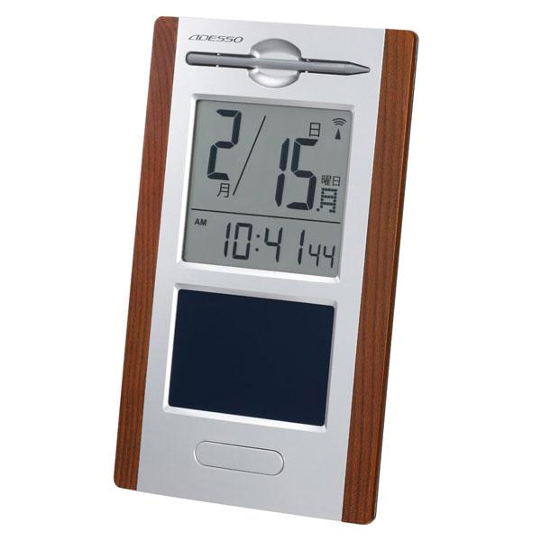 日めくり電波時計withメモパッド