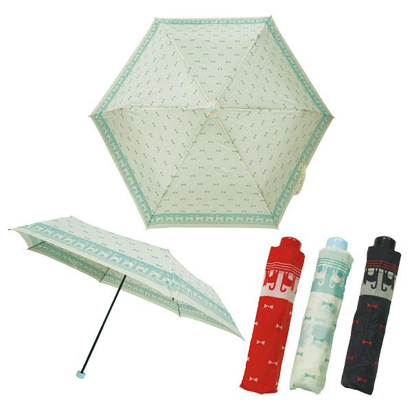 猫ボーダー柄折りたたみ傘