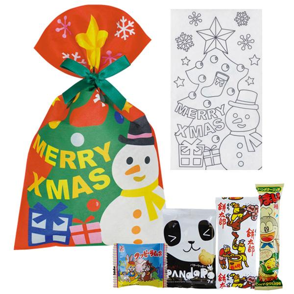 クリスマスお菓子セット(ぬりえ)