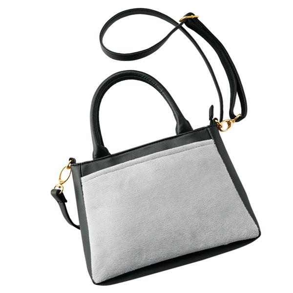 ラディアナ・ブラックアッシュ2スタイルハンドバッグ