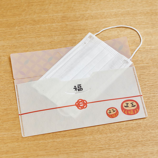福だるまマスクケース(マスク1枚付き)